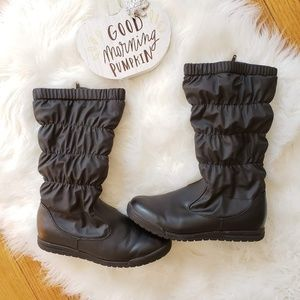 Zippered Snow Boots Black Size 7.5